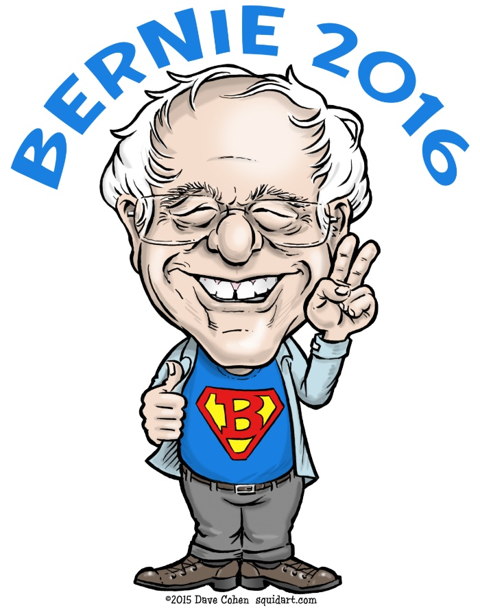bernie-sanders-2016-cartoon-caricature-feel-the-bern-democratic-socialist-president-prints